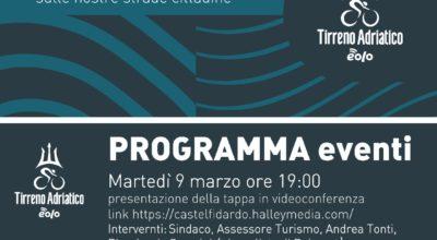 """Presentazione in videoconferenza della """"tappa dei muri"""" della Tirreno-Adriatico"""