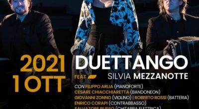 Duettango, la voce di Silvia Mezzanotte il bandoneon di Cesare Chiacchieretta e il pianoforte di Filippo Arlia