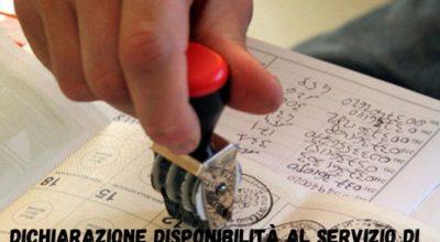 dichiarazione disponibilità al servizio di scrutatore entro il 24 agosto(1)